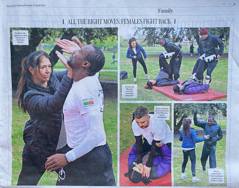 Eitan Krav Maga Women's Self Defence featured in The Telegraph